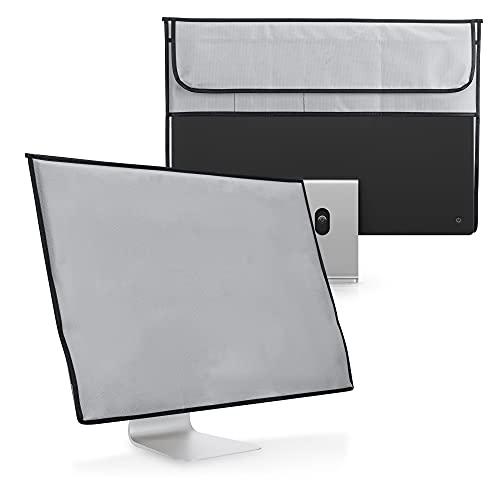 kwmobile Funda Compatible con Apple iMac 24' - Case 4 en 1 para Monitor Teclado Mouse Accesorios Gris Claro