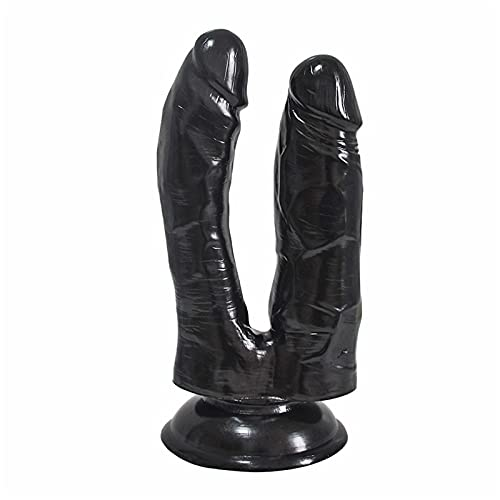 Double-Ended Ðí'l'dɔ Sṳctịon Cup Base Perfect Size Másságë Toy Thrusting Curved Super Thick Lifelike Double Headed Dillịdọ for Women Men Couples Lèsbían 7 Inch