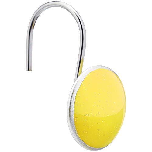 AmazonBasics – Haken für Duschvorhang, Knopf, gelb
