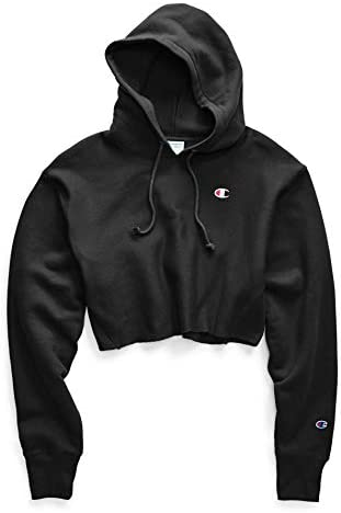 Champion Life Women s Reverse Weave Cropped Cut Off Hood Black L product image