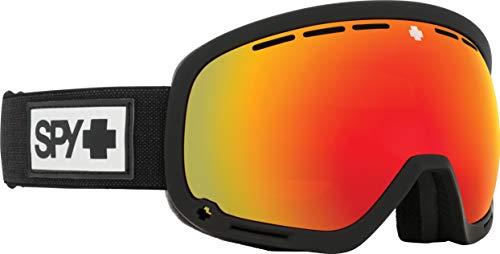 Spy Marshall Skibrille Snowboardbrille - Matte Black/Red Spectra (+Bonus Lens) Schnneebrille Goggles
