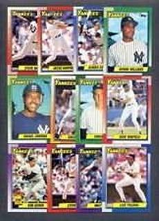 1990 Topps New York Yankees Team Set (Bernie Williams Rookie Card)