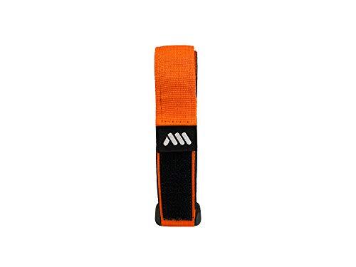 All Mountain Style Correa de Velcro para Sujetar la Camara de tu Bicicleta, geles, Fruta u Otros Accesorios, Unisex-Adult, Naranja, No