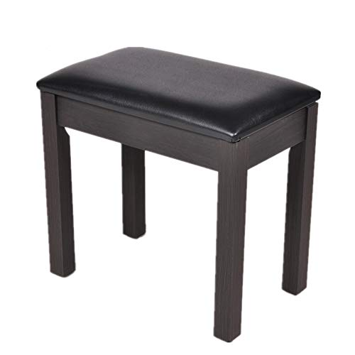 Best Bargain Iddefee Piano Bench Stool Single with Border and Book Box Lift Stool Piano Cover Piano ...