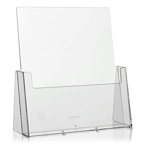 taymar DIN A4 Prospekthalter, Prospektständer, transparent