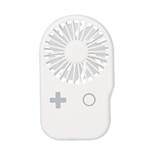 ZQG Mini Ventilador de Mano USB Lámpara Colgante USB con Carga para Mini Ventilador de Bolsillo de Carga rápida de 2 velocidades (Color:Azul) (Color : White)
