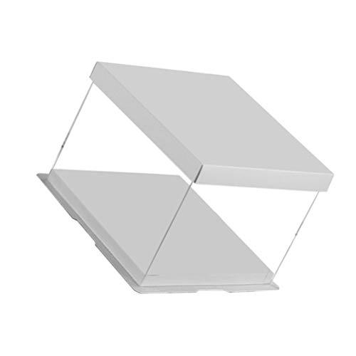 Cabilock Klare Tortenschachtel Fenster Bäckerei Verpackungsschachtel Transparente Geschenkbox für Kuchen Kekse Hochzeitsfeier Gefälligkeiten (Weiß 10 Zoll)