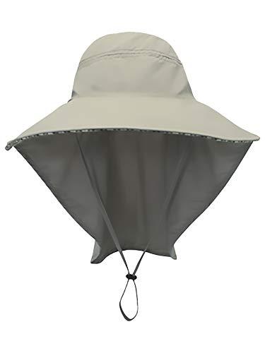 Unisex UV Protección Gorra de Safari con 25cm Cuello Guardia 11cm Gran...