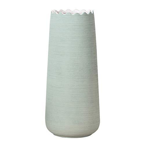 Hetoco 30cm Verde Decorativos Modernos Ceramica Jarrones de Flores para Mesa de Comedor Sala de Estar Idea Regalo para Cumpleaños Boda Navidad