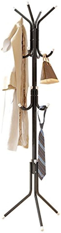 Simple Bedroom Hanger Coat Rack Floor Clothes Fashion Creative Iron Storage Rack Bag Rack,Black