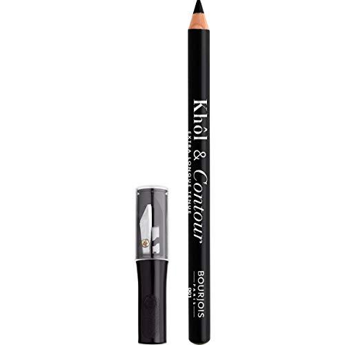Bourjois - Crayon Yeux Khôl & Contour - Couleur intense - Fini Mat - 01 Noir-Issime + Taille Crayon 1,2gr