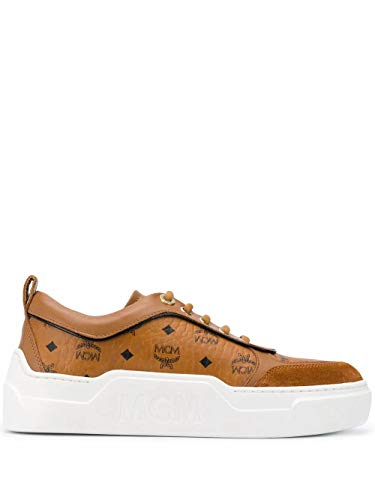 MCM Luxury Fashion Damen MESAAMM19CO Braun Leder Sneakers | Herbst Winter 20