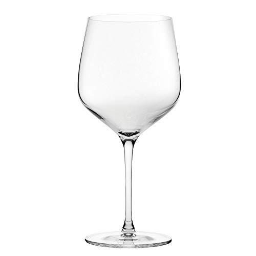 Set de 6 copas de vino borgoña de 625ml, copas de vino de tallo largo
