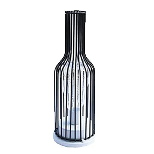 ITCUTE Treehomein - Lámpara de mesa LED, funciona con pilas, con marco de hierro, luz cálida, decoración romántica