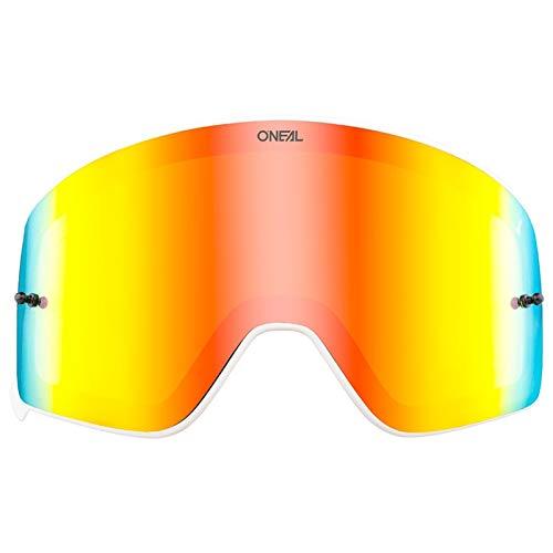 O'NEAL   Motocross-Brillen-Ersatzteile   Motorrad Enduro   Hochwertige & schlagfeste Linse mit 100% UVA/B/C Schutz, Anti-Reflexionsbeschichtung   B 50 Goggle White Spare Lens   Radium Red