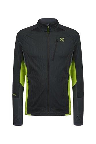 Montura Jacket Combo Full Zipp Maglia Men Ardesia/Verde Acido (L)