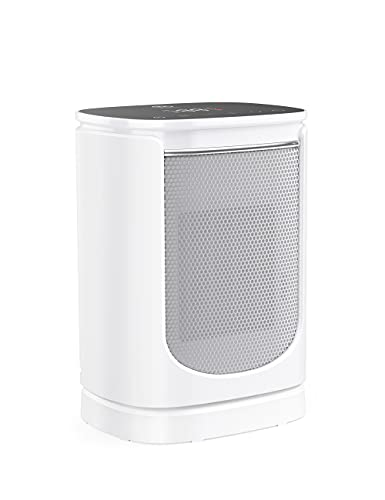 Portable Space Heater, 1500W Fast Heating Electric Ceramic Heater with Adjustable Thermostat, Tip-over, and Overheating Protection