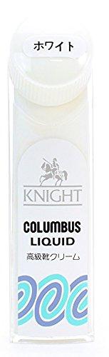 [セレブル] (コロンブス) COLUMBUS ナイトリキッド KNIGHT LIQUID 革専用 液体靴クリーム ハンディタイプ 塗布器付き ホワイト