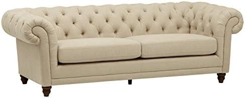 Best Amazon Brand – Stone & Beam Bradbury Chesterfield Tufted Sofa Couch, 92.9
