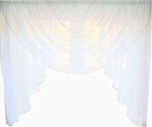 FK-Lampem Fertiggardine aus Voile NEU Top Design Set Schöne Gardine HG-1 Modern (Fensterbreite 200-220 cm)