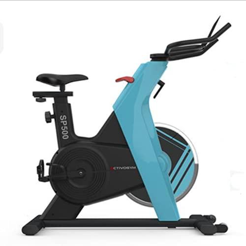 ACTIVOGYM SP500 - Bicicleta Spinning Profesional - Mágnética, Transmisión por Correa Silenciosa y Pedales Spining con Calas. Volante Inercia 13 Kg