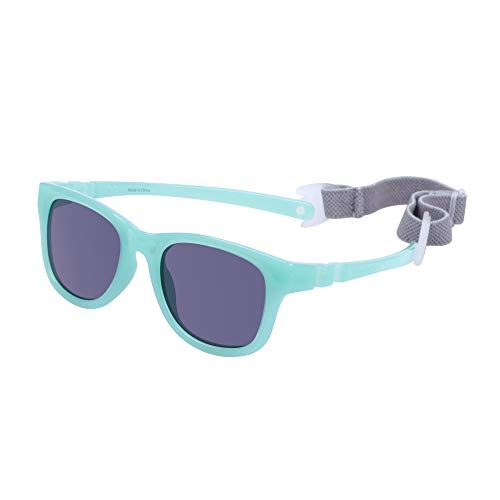 COCOSAND Baby Sunglasses with Strap 100% UV Protection TPE Frame for Infant Toddler Girls & Boys Age 0-24months