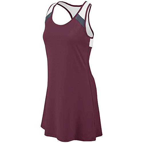 Augusta Sports Ladies 2XL Dark Maroon/Graphite/White Dress