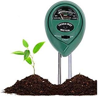 FayTun Bodentester, Boden Feuchtigkeit Meter, 3 in 1 Bodentester für..