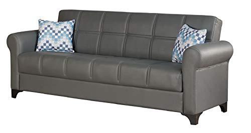 BEYAN Corona Modern Upholstered Convertible Sleeper Sofa with Storage, 89',...
