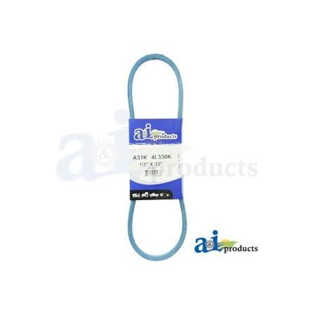 NEW PIX BELT PART # A31K 1//2 INCH x 33 INCH BLUE A-SECTION BELT