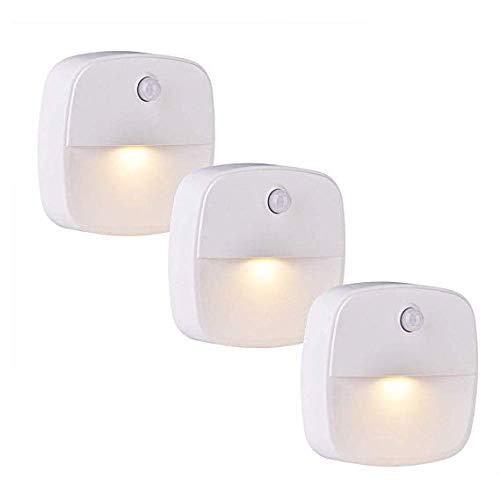 CYHWDHW Nachtlampje, kastverlichting met bewegingsmelder, ledverlichting, voor slaapkamer, badkamer, keuken, hal