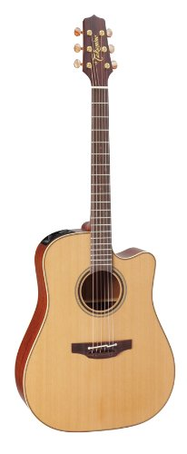 Takamine Pro Series 3 P3DC Dreadnought Body Acoustic Electric Guitar with Case