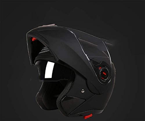 YOUZHI Casco Masculino Motocicleta Bicicleta Casco Integral Medio Casco con Auriculares Bluetooth...