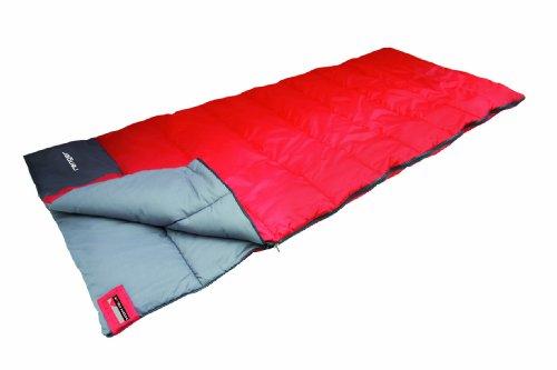 High Peak Ranger Saco de Dormir, Unisex, Rojo/Gris Oscuro, 180 x 75 cm