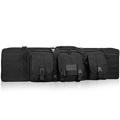 """ProCase Tactical Rifle Bag, 36"""" Gun Bag Long Double Rifle Pistol Gun Firearm Transportation Carbine Case w/Backpack, MOLLE, Lockable Compartments -Black"""