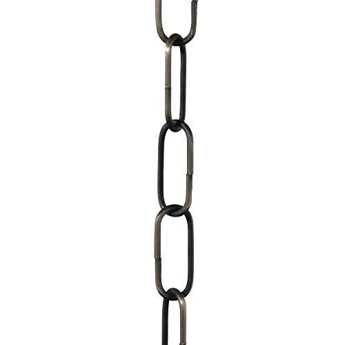 Cadena de eslabón abierto para lámparas de techo ElekTek. Eslabón de tamaño mediano de 38 mm x 15 mm - paquete de 2 m