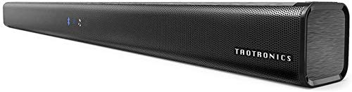 TaoTronics Three Equalizer Mode Audio Speaker for TV, 32-Inch Wired & Wireless Bluetooth 4.2 Stereo Soundbar, Optical/Aux/RCA Connection, Wall Mountable, Remote Control (Black) (Renewed)