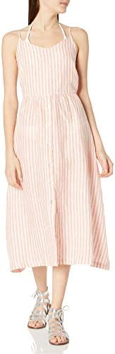 Seafolly Women s Midi Button Front Tank Dress Baja Stripe Vintage Coral Extra Small product image