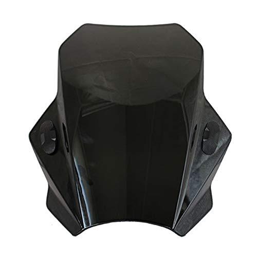 windschild Motorrad Einstellbare Motorrad Windschutz Windschutzscheibe for BMW G310R R1150 F800R Kawasaki Z650 Z900 Z800 Z750 Z250 Z1000 Z300 Z400 (Color : Black)