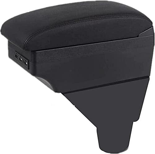 TTMMMKP Caja de apoyabrazos para consola central de coche, interior con soporte para taza + ajuste USB, para CIthroen C3 C4-B estilo rojo