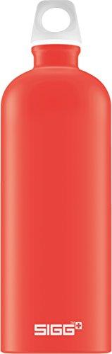 Gourde SIGG Lucid Scarlet Touch (1L), gourde étanche et sans produits toxiques, ni BPA, bouteille aluminium robuste et très légère, facile à transporter