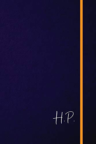 H.P.: Classic Monogram Lined Notebook Personalized With Two Initials - Matte Softcover Professional Style Paperback Journal Perfect Gift for Men and Women [Idioma Inglés]