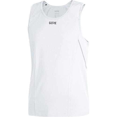 GORE WEAR R5 Camiseta de running sin mangas para hombre, Talla: XL, Color: Blanco