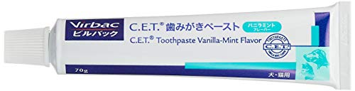 ビルバック (Virbac) C.E.T酵素入り歯みがきペーストバニラミントフレーバー 犬猫用 70g