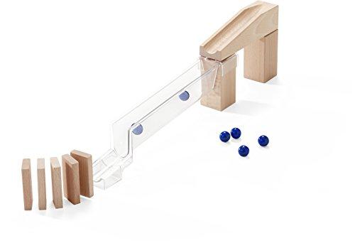 Haba 303947 - Kugelbahn - Ergänzungsset Marble Canyon | Kugelbahn-Erweiterung aus Holz mit konisch geformter Bahn für wechselndes Tempo| Spielzeug ab 4 Jahren