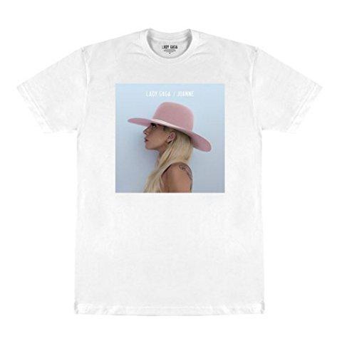 Lady Gaga Joanne T-Shirt, Albumcover, Weiß -  Schwarz -  X-Groß