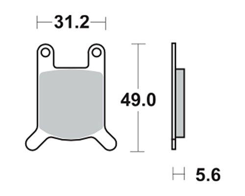 Bremsbeläge TRW MCB508 für Hercules KX-5 50 87- (vorne)