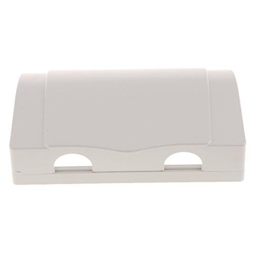 Colcolo Caja de Protección Impermeable para Enchufe/Interruptor con 2 Agujeros, Color Blanco