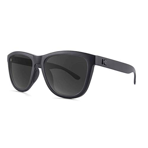 Knockaround Premiums Sport - Polarized Sunglasses For Running & Fitness (Matte Black on Black Frame / Polarized Black Smoke Lenses)
