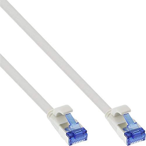 InLine Ligawo - Cable de Pares Trenzados (Plano, U/FTP, Cat. 6A, TPE, Libre de halógenos, 10 m),